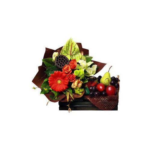 Fruit and Flower Basket from Mayflower Studio Florist in Marlborough, NZ