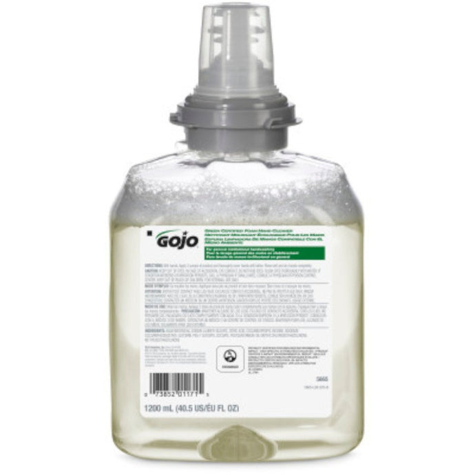 GOJO 5665-02 Green Certified Foam Hand Cleaner 1200 mL, 2/Case