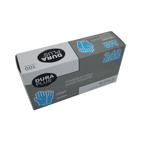 Dura Plus 340 Disposable Large Nitrile Gloves