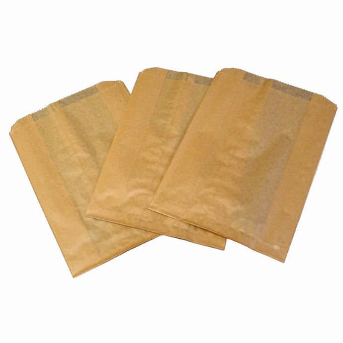 HOSPECO KL260 Kraft Waxed Feminine Hygiene Disposal Bags with Gusset