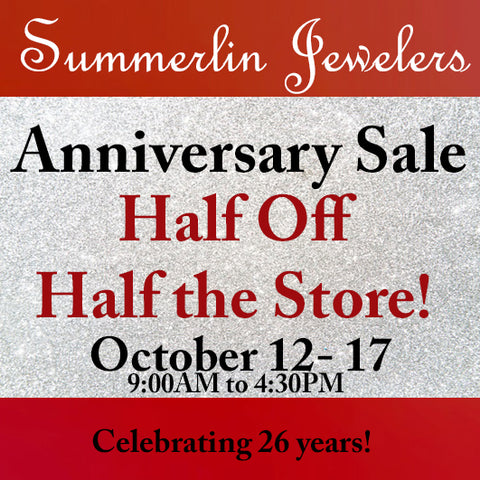 anniversary sale summerlin jewelers half off half the store