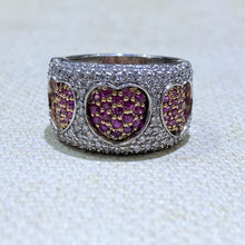 Load image into Gallery viewer, Estate - 14KW Ruby and Diamond Band