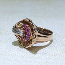 Load image into Gallery viewer, Estate - 14KR Ruby and Diamond Ring