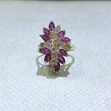 Load image into Gallery viewer, Estate - 14KY Ruby and Diamond Ring