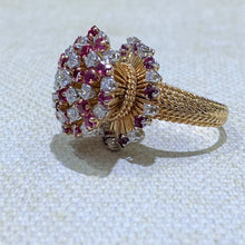 Load image into Gallery viewer, Estate - 18KY Ruby and Diamond Ring