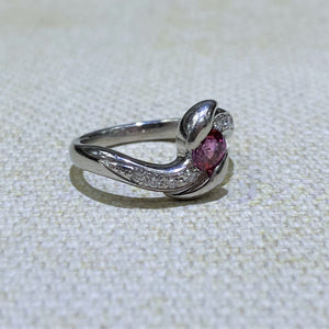Estate - Platinum Ruby and Diamond Ring