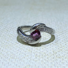 Load image into Gallery viewer, Estate - Platinum Ruby and Diamond Ring