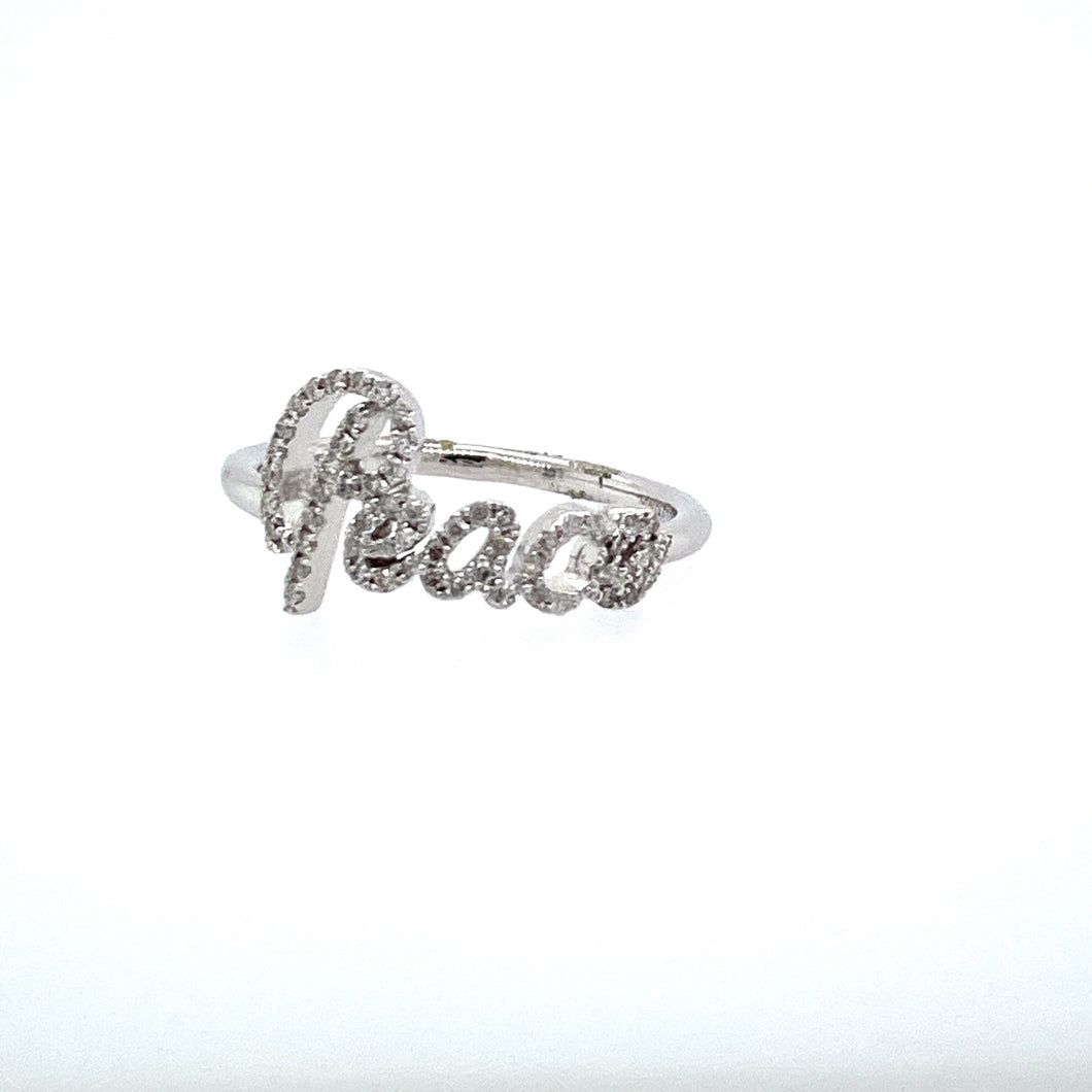 This Sparkling Diamond Ring Features the Word
