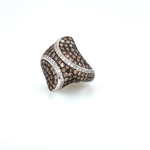 14KW Black and White Diamond Ring