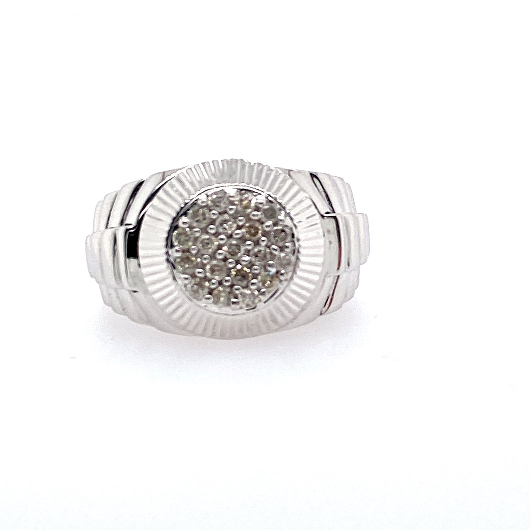 This 14 Karat White Gold Men's