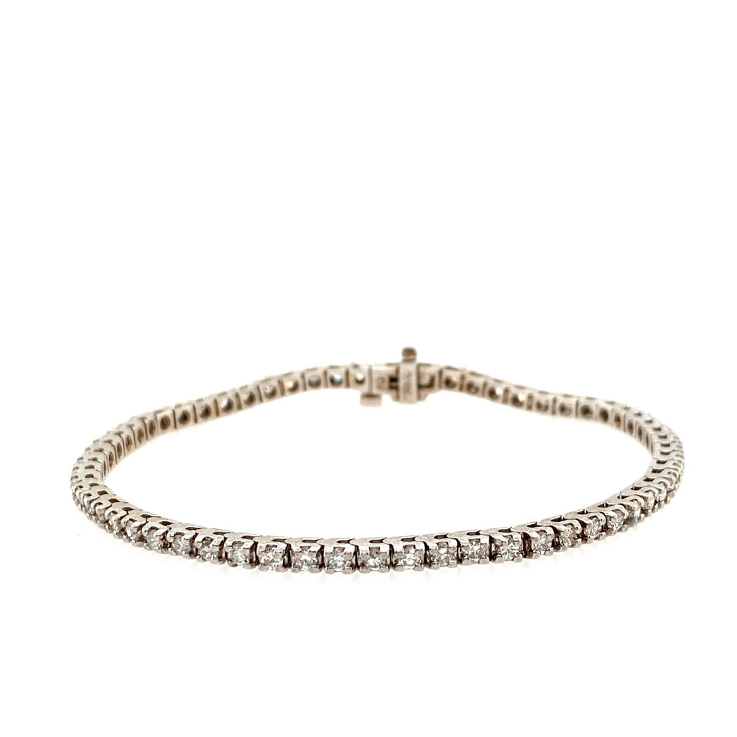 14KW Diamond Tennis Bracelet