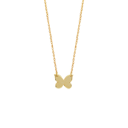 14 karat yellow gold butterfly necklace