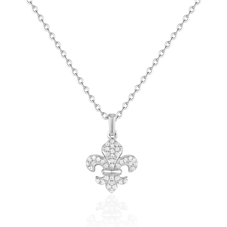 This Dainty 14 Karat White Gold Necklace Measuring 16