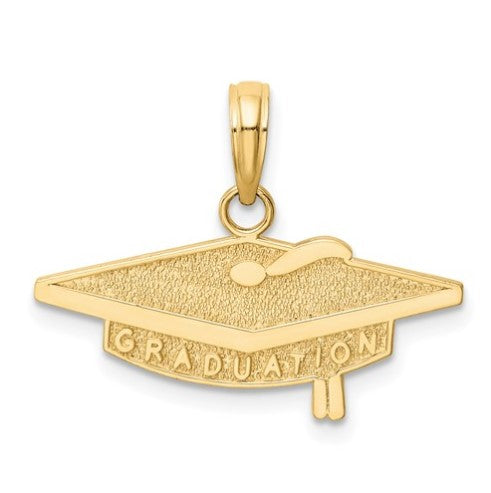 14 karat yellow gold graduation charm in the shape of a graduation cap