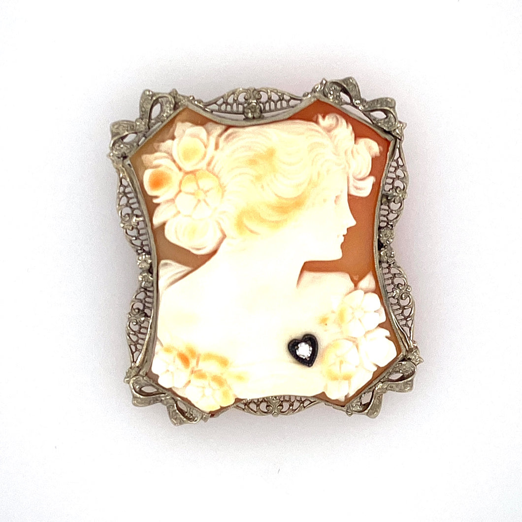 Estate - 14KW Cameo Pin/Pendant