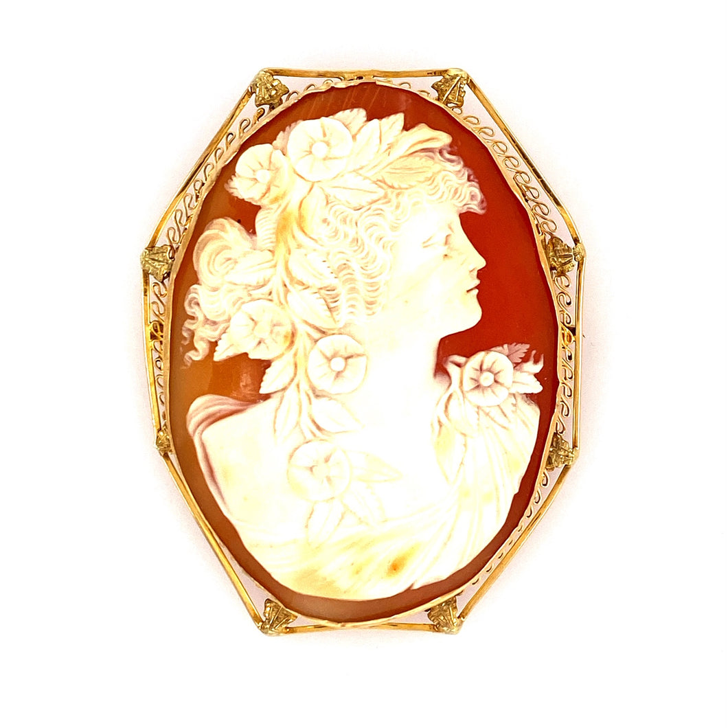 Estate - 14K Cameo Pin/Pendant