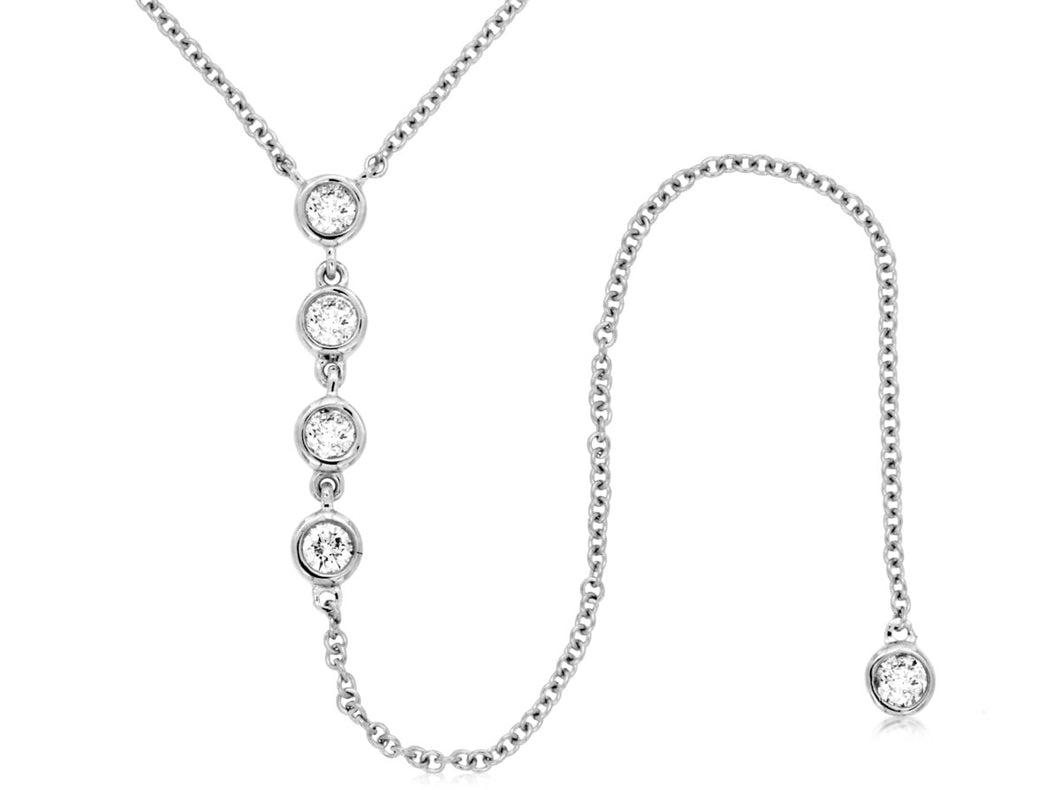 14KW Diamond Drop Necklace