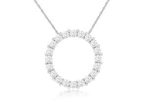 14KW Diamond Eternity Necklace