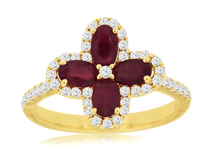 14KY Ruby and Diamond Ring