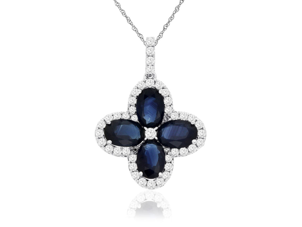 14KW Sapphire and Diamond Necklace