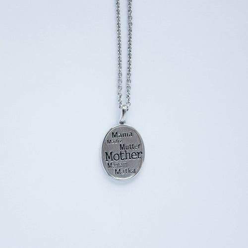 mommy chic sterling silver oval shaped multi lingual