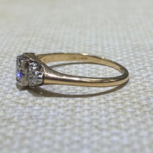 Load image into Gallery viewer, Estate - 18K Two-Tone Diamond Vintage Engagement Ring