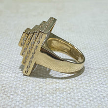 Load image into Gallery viewer, Estate 18KY Diamond Tier Ring