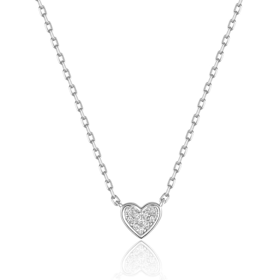 14KW Diamond Heart Necklace
