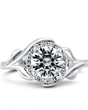 "Load image into Gallery viewer, 14KW ""Bloom"" Engagement Ring"