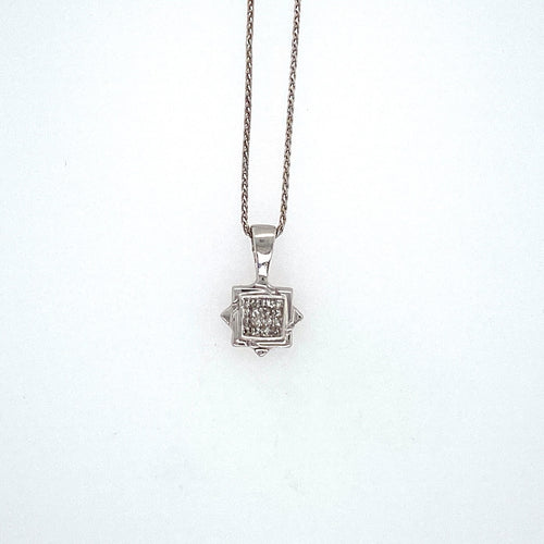 This Dainty Estate Star of David Features 16 Princess-Cut Diamonds, and Hung by a 16