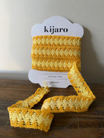 Load image into Gallery viewer, Yellow Woven 2 Tone Vintage Trim