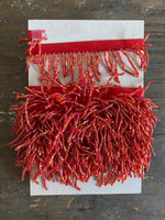 Load image into Gallery viewer, Red Beaded Waterfall Tassel Trim - 3.1m