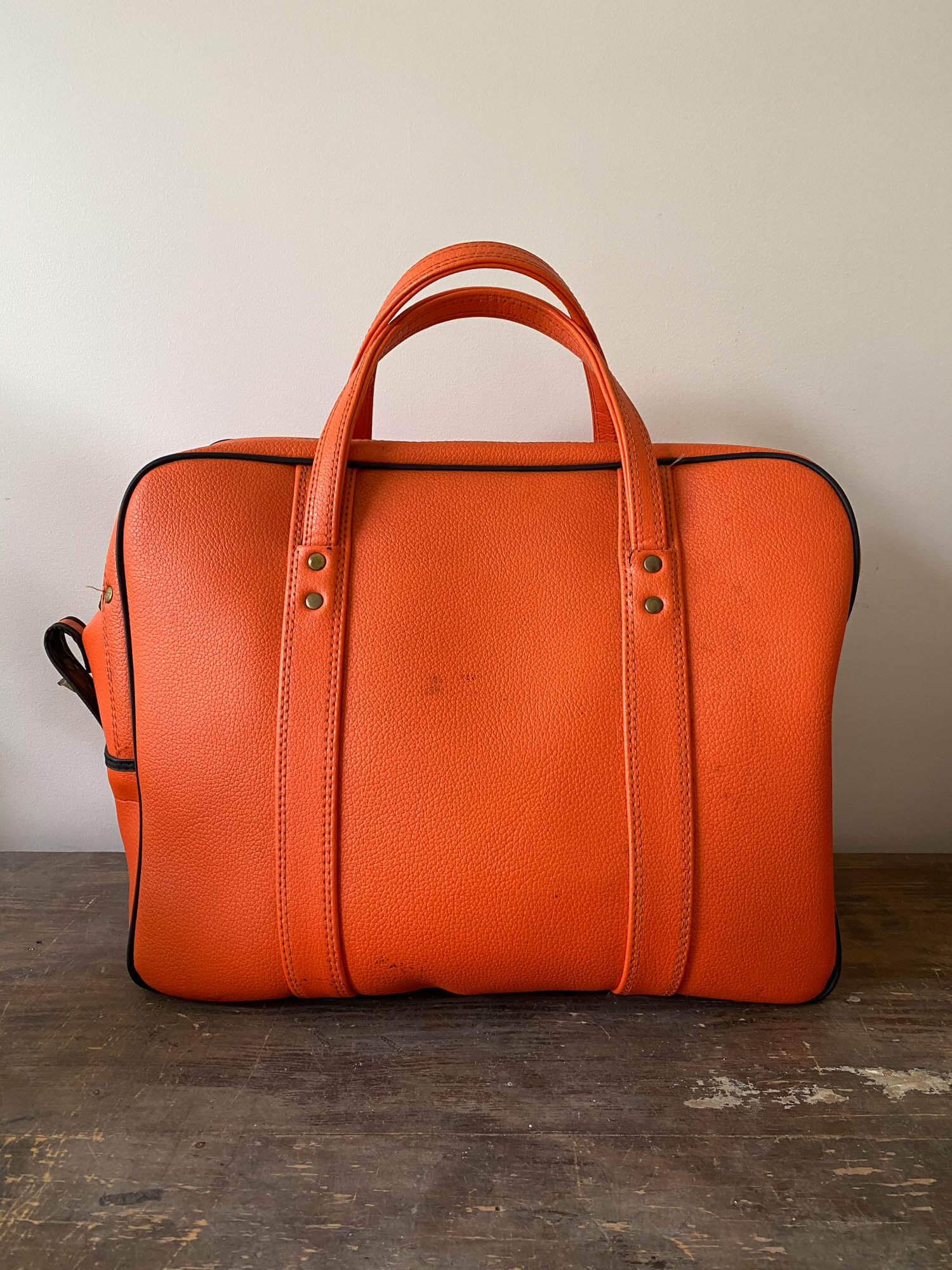 Vintage Orange 1970's overnight bag