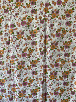 Load image into Gallery viewer, Vintage pink and orange floral fabric.