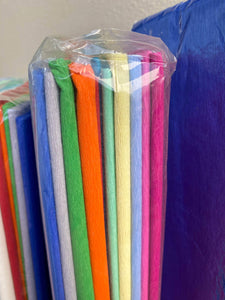 Gala Crape Paper- Brand new in packet - Mixed Colours