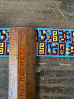 Load image into Gallery viewer, Vintage Blue Aztec Inspired Trim