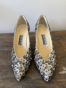 1980s Sabato e Dominica Flower Studded Shoes