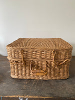 Load image into Gallery viewer, Vintage Cane Picnic Basket
