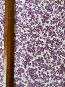 3.6m Vintage Purple Floral Fabric