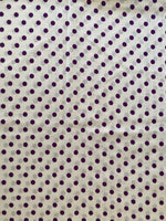 Load image into Gallery viewer, Vintage Purple and White Polka Dot Fabric