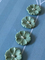 Load image into Gallery viewer, Vintage Blue/Green Flower Buttons
