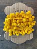 Load image into Gallery viewer, Modern Yellow Small Pompom Trim