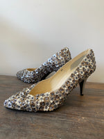 Load image into Gallery viewer, 1980s Sabato e Dominica Flower Studded Shoes
