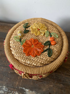 Small Vintage Sewing Basket