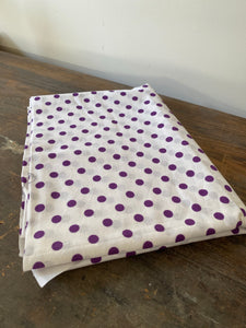 Vintage Purple and White Polka Dot Fabric
