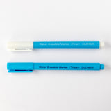 Clover temporary fabric-marking pen - water-erasable - blue