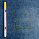 Chacopa erasable fabric-marking pen – yellow (visible on denim)