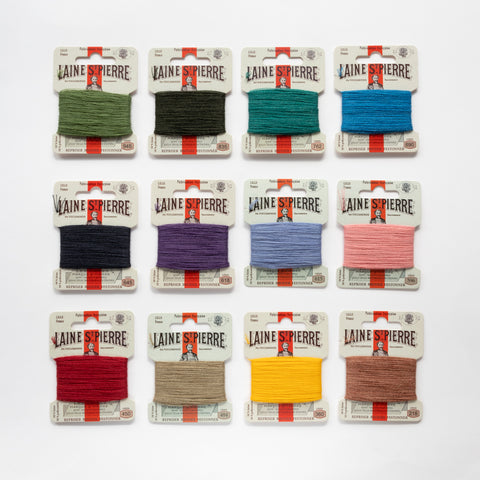 Sajou Laine Saint-Pierre discovery assortment (12 colours) - stranded wool/nylon mending yarn