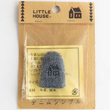 Little House denim-style leather thimble