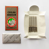 Organ sewing machine needles – plastic-free